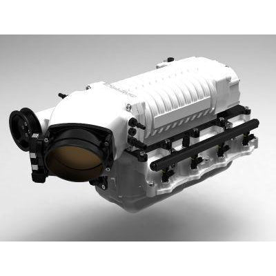 Whipple 2017 Gen 3 Upgrade Supercharger, Gloss White (SC, Inlet) Discharge Ano Black
