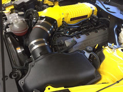 Whipple 2016 Mustang GT SC System Stage 1, Gloss Yellow (SC, Inlet) Discharge Ano Black PCM Flash Device