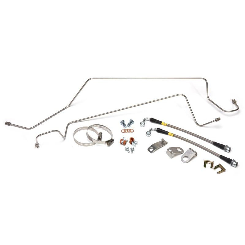 Maximum Motorsports Stainless Brake Hoses & Hard Lines, 1986-93, SN95 calipers, rear MMBK13R