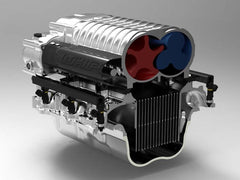 Whipple 2013 Boss Mustang Competition SC Systems, Billet 132MM Eliptical Fuel Pump Booster Carbon Fiber Inlet Tube