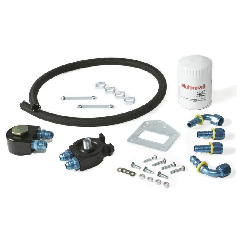 Maximum Motorsports Oil Filter Relocation Kit, 1999-2002 Cobra and 2003-2004 Mach One OC-8 & OC-9