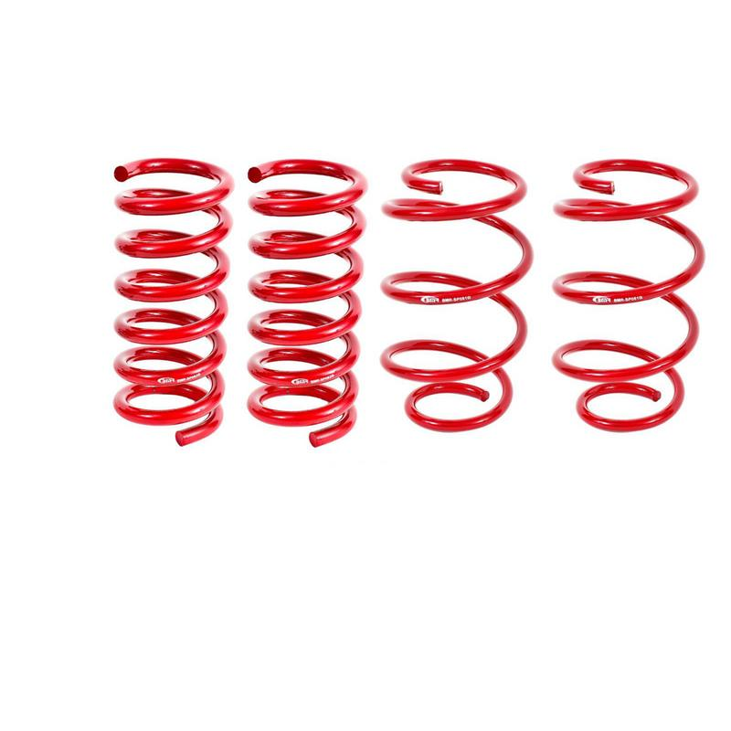 BMR Suspension Lowering Springs, Set Of 4, Performance, Red