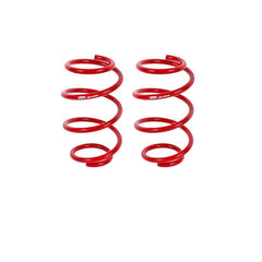 BMR Suspension Lowering Springs, Front, Minimum Drop, Performance Version, Red