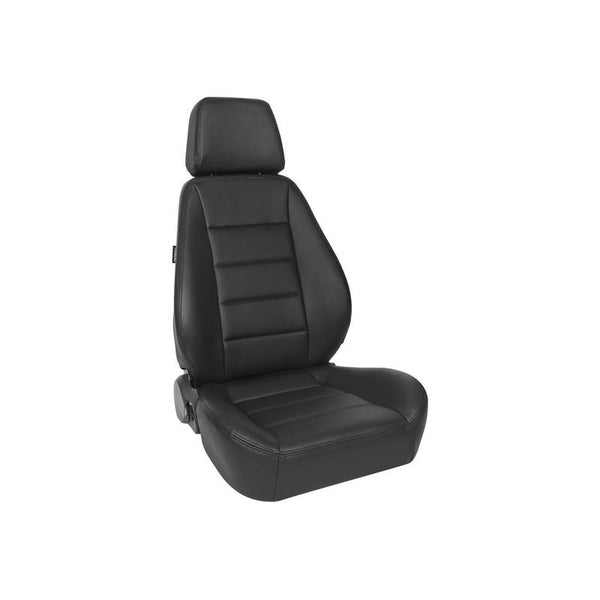 Corbeau Sport Seat Reclining Seat Black Leather - L90001