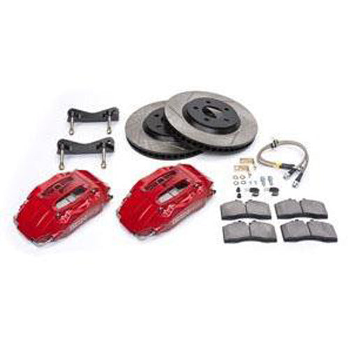 "StopTech Touring Brake Kit, 15"" 1-piece rotor, 6 pistons, 2015-2017 Mustang, Red 82.345.6100-RD"