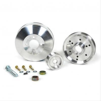 BBK 96-01 Mustang 3 Piece Aluminum Pulley Kit - GT & Cobra 4.6L 1555