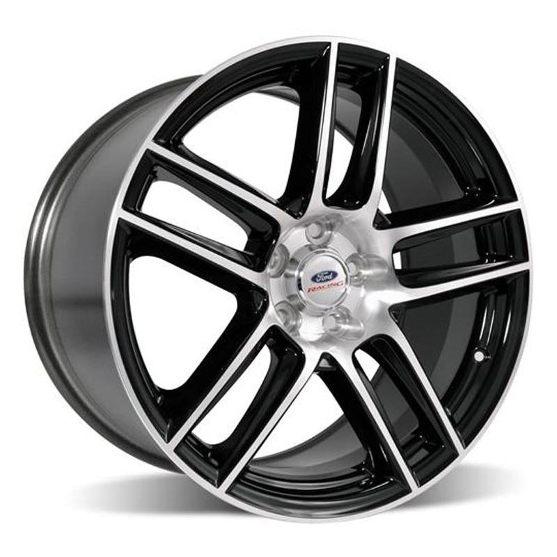 Roush Performance 2005-2014 Mustang Rear Wheel Black w/ Machined Face - Ford Racing M-1007-DC1910LGB
