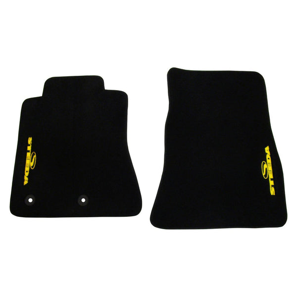 Steeda S550 Mustang Floor Mat Set - Yellow (2015-2019 All) 376 0047 15 STDA Y