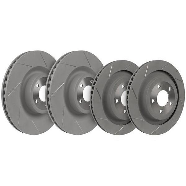 Steeda Mustang GT PP Slotted Front and Rear Brake Rotors (15-17 GT) 555-6026