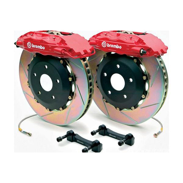 "Brembo 4 Piston 14"" Mustang Front Brake Kit - 2 Piece Slotted (05-14) 344 1B2 8046A2"