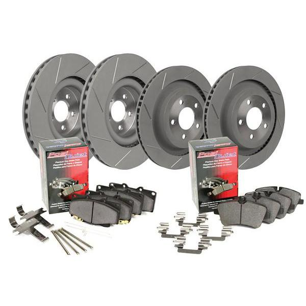 Steeda S550 Mustang GT Performance Pack Slotted Front & Rear Brake Kit (15-18 GT) 555-6029