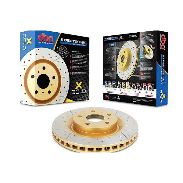 Dbausa Mustang Street Series Drilled & Slotted Rear Rotor (15-17 EcoBoost PP/GT) 602 DBA2165BLKX