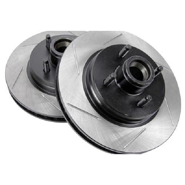 StopTech Slotted Mustang Front Sport Rotors - (87-93) 492 126 61026S PR