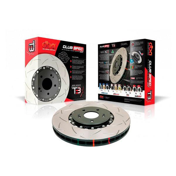 Dbausa Mustang 5000 Series T3 Two-Piece Non-Directional Slotted Front Rotor (15-17 GT PP) 602 DBA52166S