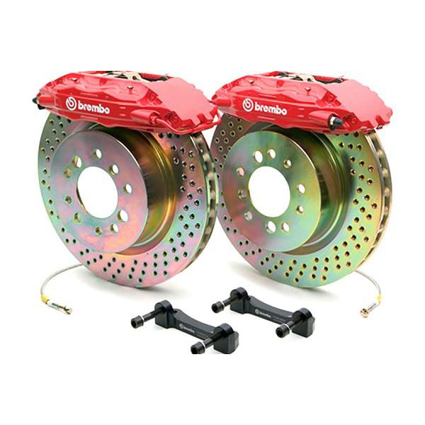 "Brembo 4 Piston 14"" Mustang Front Brake Kit - 1 Piece Drilled (05-14) 344 1B4 8001A2"