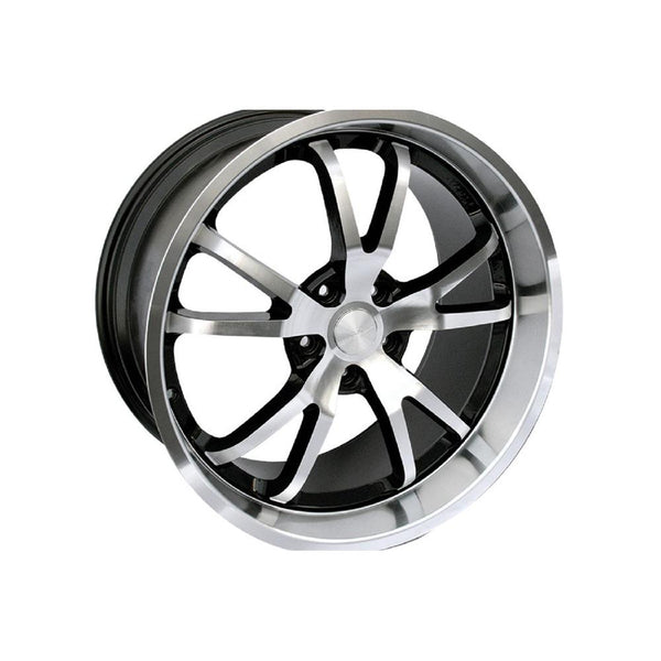 Steeda Mustang Spyder Wheel - Black w/ Machined Face/Lip - 20x9.5 (05-14) 013 0020 45M