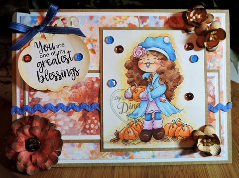 Patti's Pumpkin Patch Handmade Card