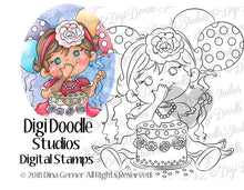 First Birthday Digi Doodles Digi Stamp