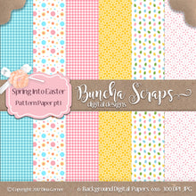 Spring Into Easter 6x6 Decorative Digital Paper Collection 1