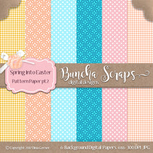 Spring into Easter 6x6 Digital Background Paper Collection 2
