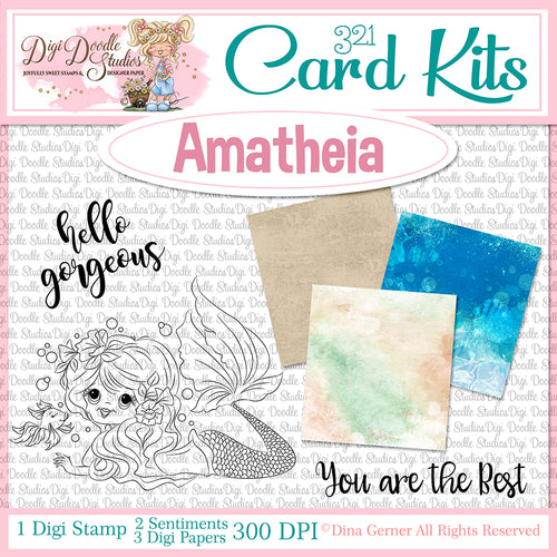 Amatheia Digi Doodles Digi Stamp 321 Card Kit