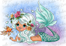 Digi Doodles Amatheia Mermaid Digi Stamp