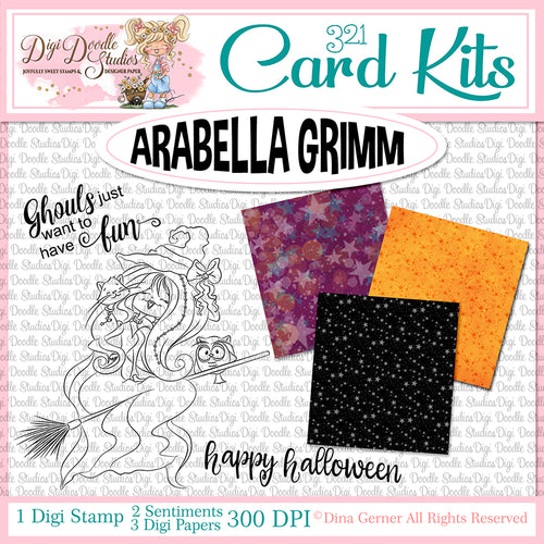 Arabella Grimm Digi Doodles Card Kit