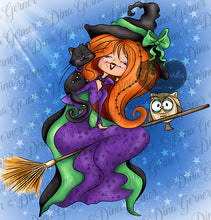 Arabella Grimm Halloween Digi Stamp Instant Download Digital Stamp