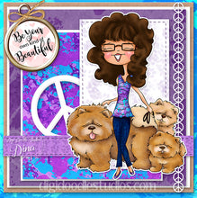 Audrey Digi Stamp Instant Download Digital Stamp
