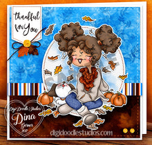 Autumn Days Sentiments & Tags Digi Stamps Instant Download