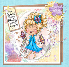 Bella Butterfly Digi Stamp Instant Download Digital Stamp