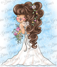 Blushing Bride Digital Stamp Instant Download Digi Stamp