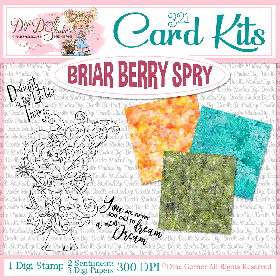 Briar Berry Spry Digi Doodles Card Kit