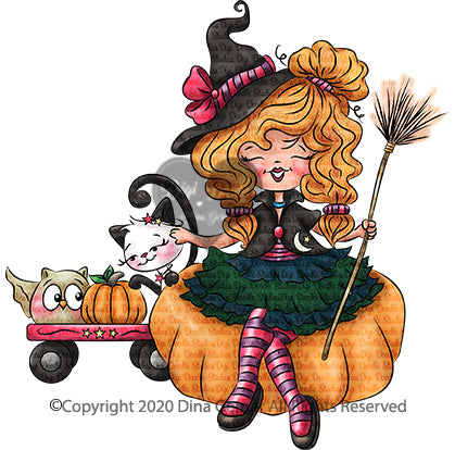 Buffy n Friends Digi Doodles Halloween Digi Stamp