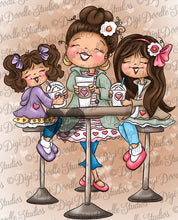 Carolina's Coffee Break Digi Stamp Instant Download Digital Stamp