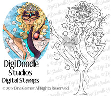 Digi Doodles Chanel Masquerade Ball Digi Stamp Instant Download Digital Stamp