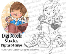 Digi Doodles Cheri's Story Time Digital Stamp