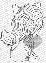Uniquely Nancy Chinese Crested Digi Doodles Digi Stamp