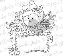 Chipper Tweets Winter Christmas Tag Digi Stamp