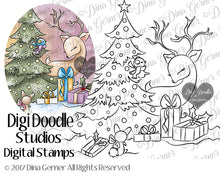 Christmas Morning Digi Stamp Instant Download Digital Stamp