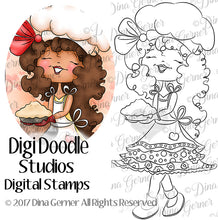 Digi Doodles Chef Cinnamon Digi Stamp Instant Download Digital Stamp