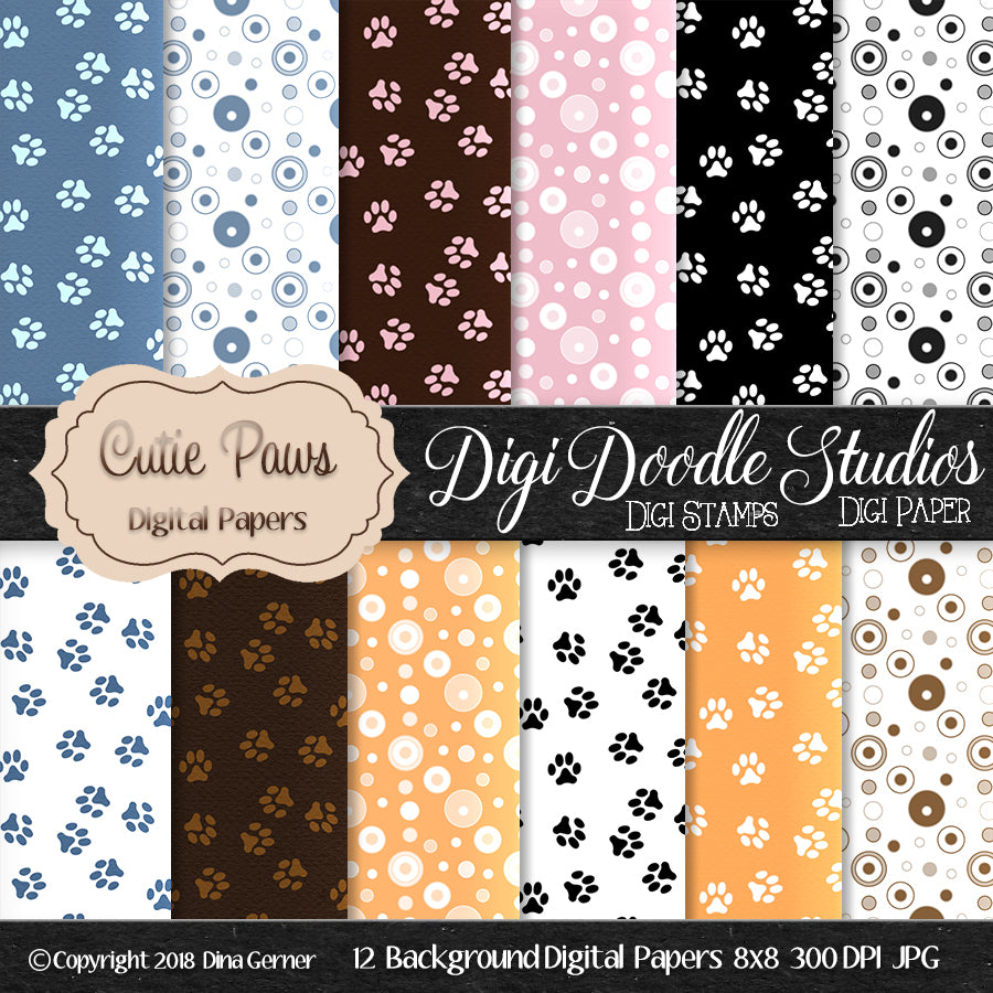 Cutie Paws Background Paper
