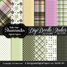 Shake Your Shamrocks Digi Doodles 6x6 Digi Paper Pack