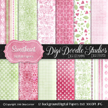 Digi Doodles Sweetheart Paper Collection 8x8 Digi Paper