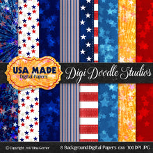 Digi Doodles USA MADE 6x6 Digital Background Papers