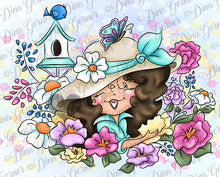 Dahlia's Blooms Digi Stamp Instant Download Digital Stamp
