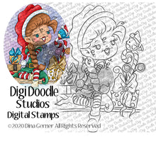 Damita Elf on the Shelf Digi Stamp Instant Download Digital Stamp