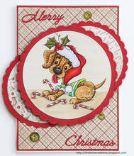 Dasher Dachshund Christmas Puppy Digi Doodles Digi Stamp
