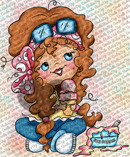 Dottie Two Scoops Digi Stamp Instant Download Digital Stamp
