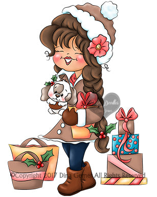 Ella Eve Home For the Holidays Digi Stamp Instant Download Digital Stamp
